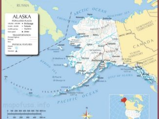 Alaska State Location Map of US