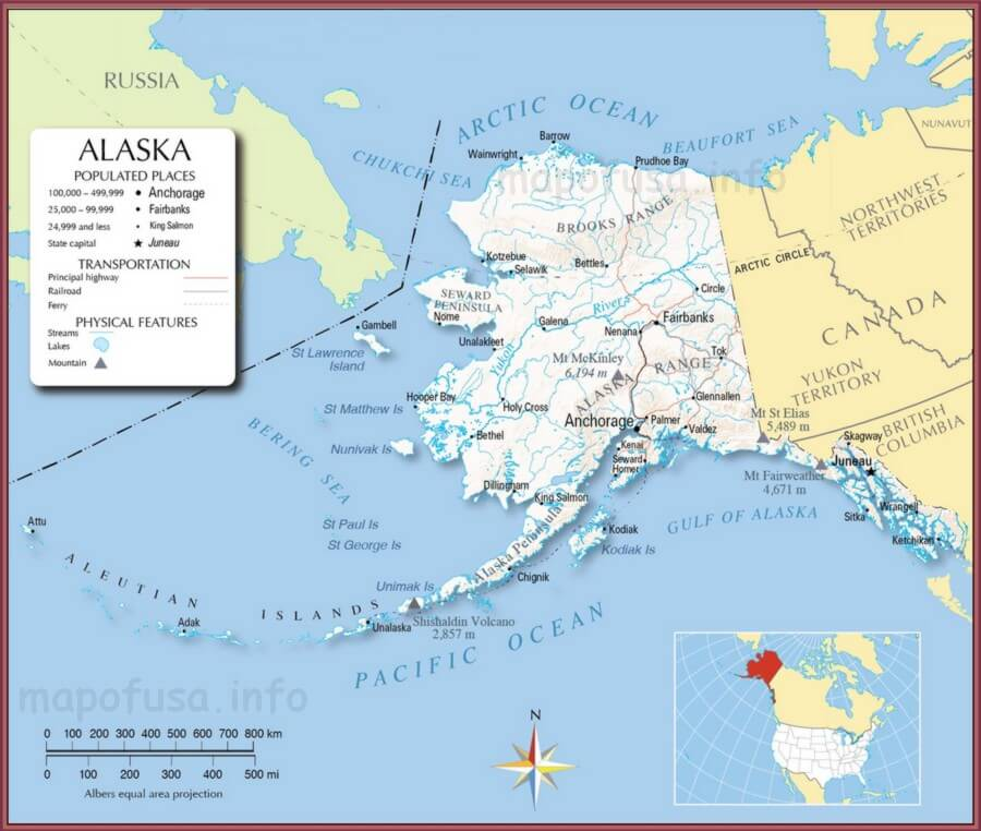 Alaska State Location Map of US – Map of Usa – World Map