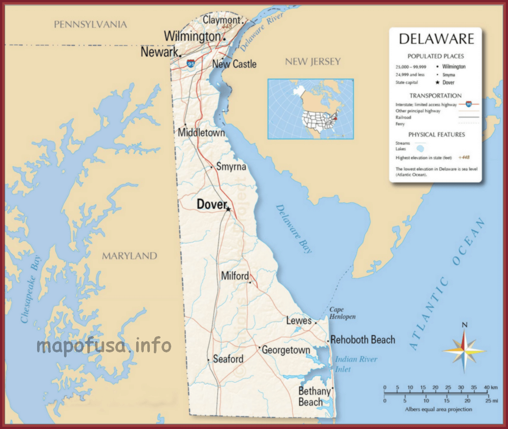 Delaware Maps of US State and County – Map of Usa – World Map