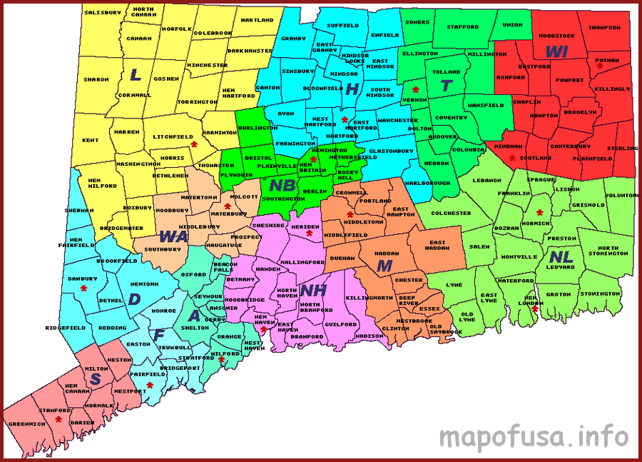 Us Of Connecticut State Location Map Map Of Usa World Map - Us-map-connecticut