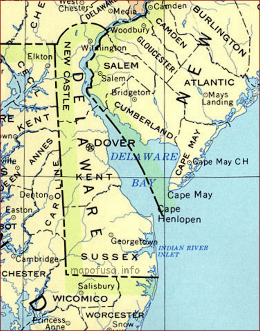 Delaware Maps of US State and County